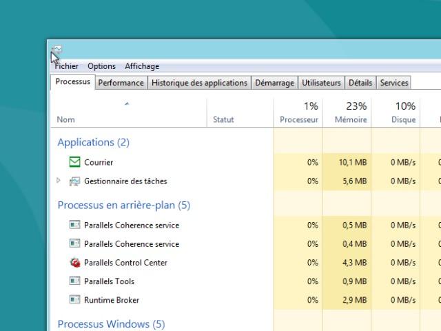 Windows 8 Consumer Preview : le gestionnaire des tâches