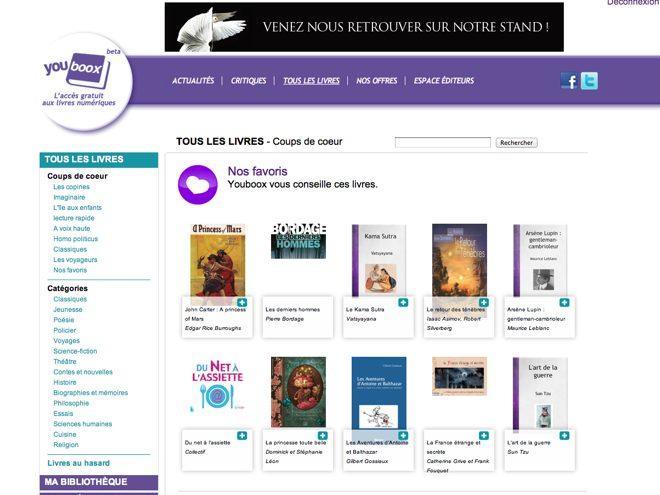 Youboox, la lecture numérique en streaming