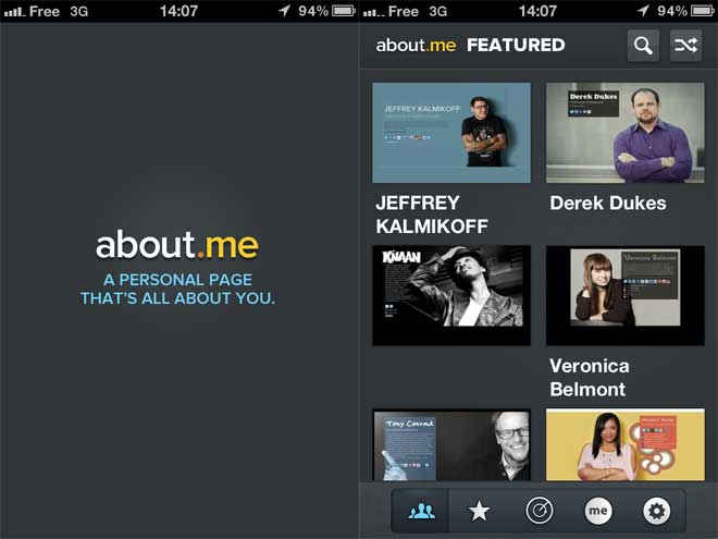 About.me est disponible sur iPhone