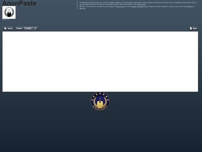 AnonPaste, le Pastebin des Anonymous (ou pas)