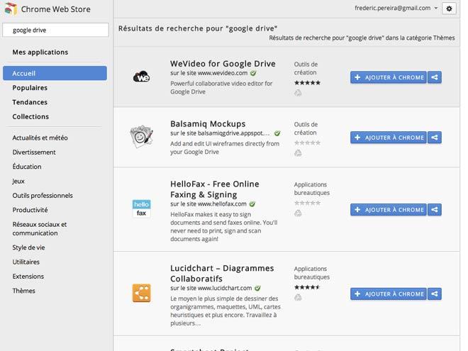 Google Drive : les premières applications compatibles débarquent sur le Chrome Web Store