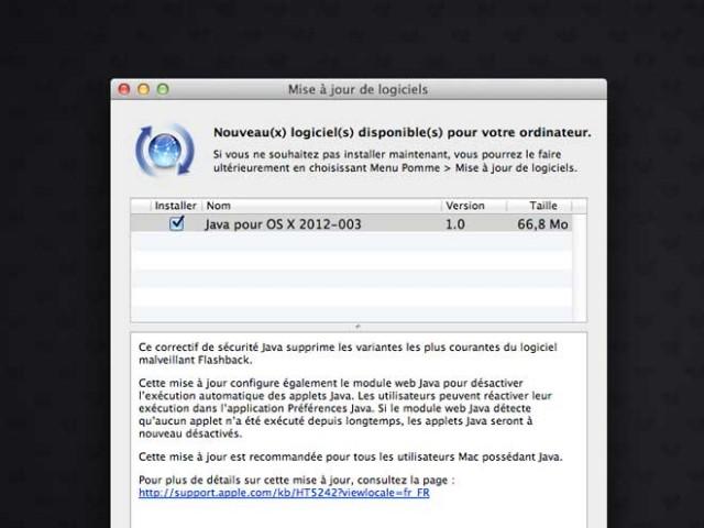 Mac OS : une mise à jour pour contrer Flashback
