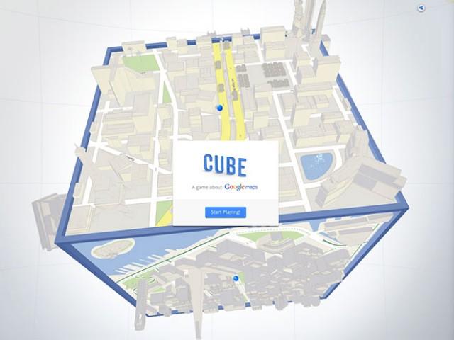 Google Cube : un jeu dans Google Maps