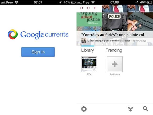 Google Currents est disponible sur iOS et Android en France