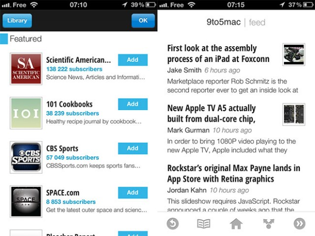 Google Currents est disponible sur iOS et Android en France