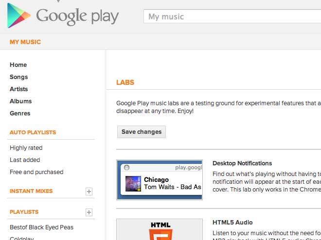 Google Music Labs