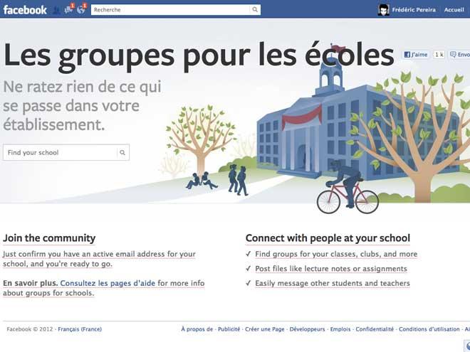 Les écoles déboulent sur Facebook