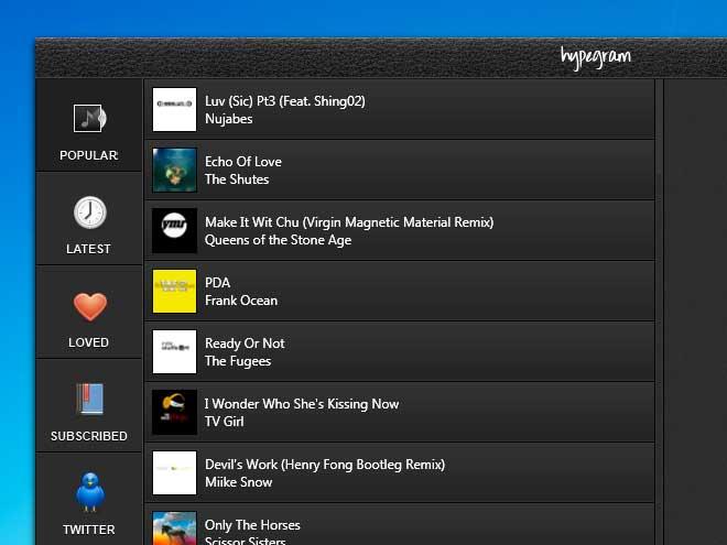 Hypegram : découvrir et écouter toute la musique du moment