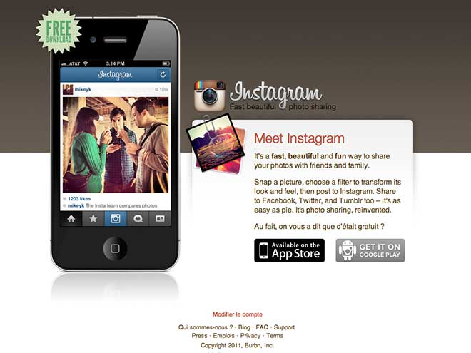 Facebook rachète Instagram pour 1 milliard de dollars