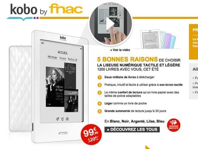 Kobo by Fnac : 100 € pour tout le monde !