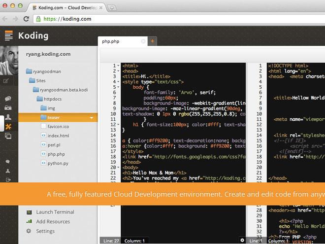 Koding, le développement dans le cloud