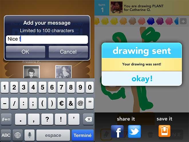 Draw Something : commentaires et partage à l'honneur