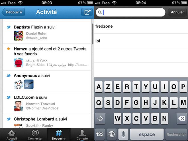Twitter : mise à jour de l'application sur iOS