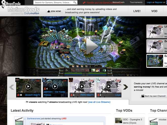 MotionCreds : un portail dédié aux lives de jeux vidéo