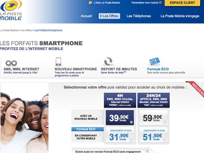 La Poste : de nouveaux forfaits pour contrer Free Mobile