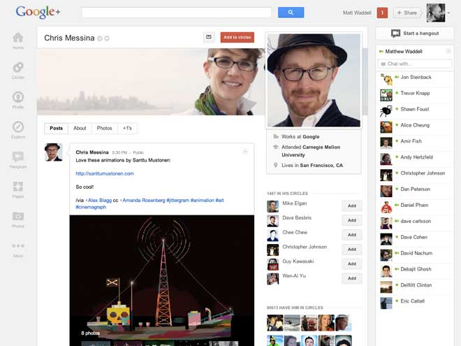 Une nouvelle interface pour Google+