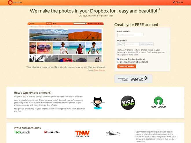 OpenPhoto : votre galerie de photos en ligne et dans votre Dropbox