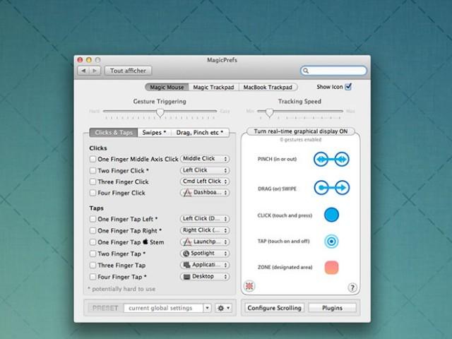"""Personnaliser les """"gestures"""" de la Magic Mouse et du Magic Trackpad"""