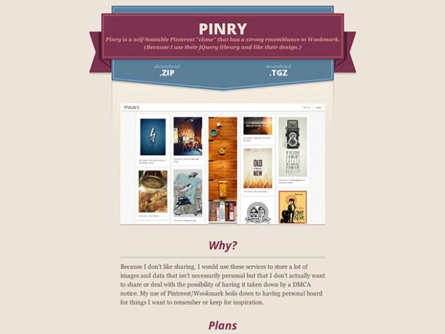 Créez votre propre Pinterest avec Pinry