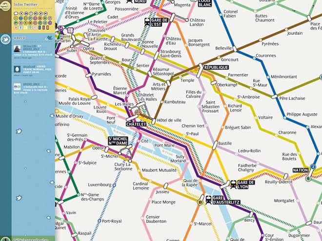 Sublyn, un plan du métro de Paris en HTML5 et avec l'intégration de Twitter