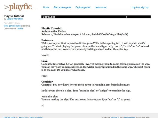 Créer des jeux de rôle textuels avec Playfic