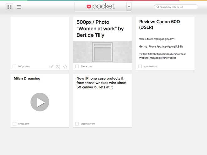 Pocket, le nouveau Read It Later