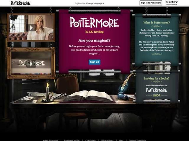 Pottermore a ouvert ses portes ! Enfin pas complètement...