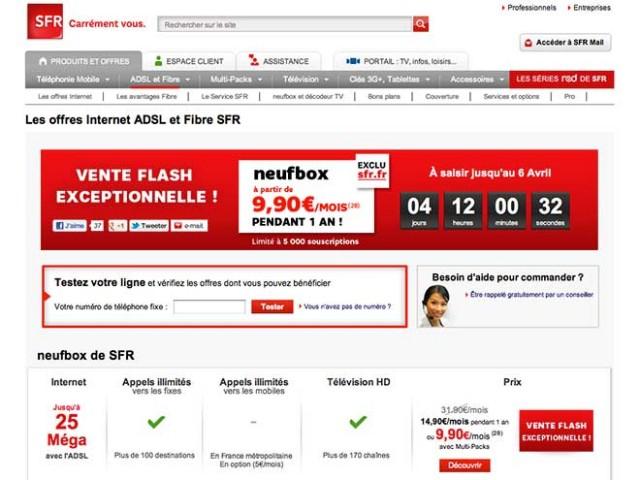 SFR casse les prix de ses offres ADSL