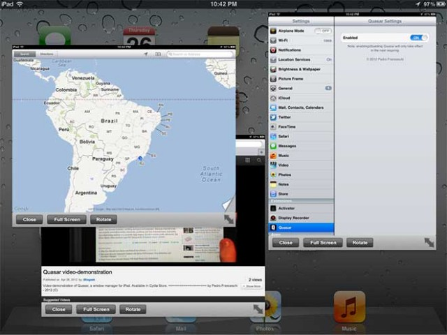 """Un """"vrai"""" multitâche pour iPad jailbreaké"""
