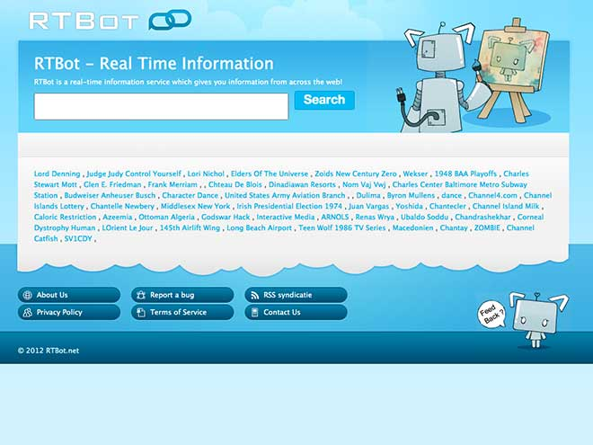 RTBot, un moteur de recherche qui vise la fraicheur