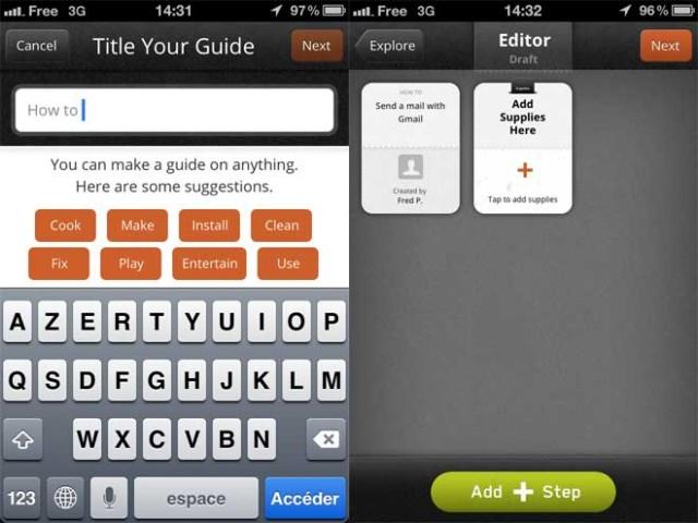 Créer et partager des tutoriels sur un iPhone avec Snapguide