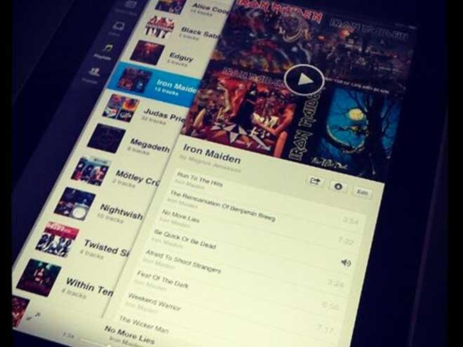 Spotify sur iPad : une première photo ?
