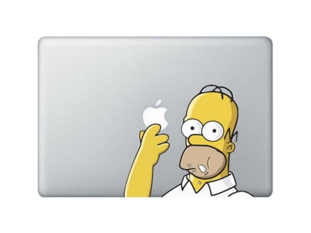 Sticker MacBook Simpson