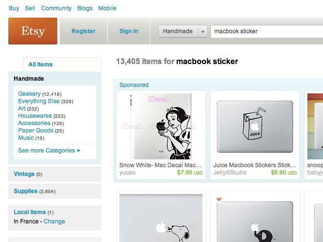 20 magnifiques stickers pour MacBook