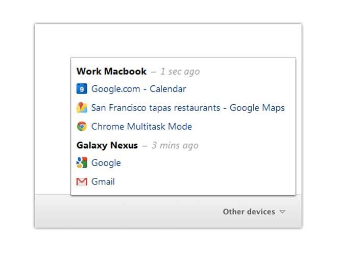 Google Chrome 19 synchronise nos onglets