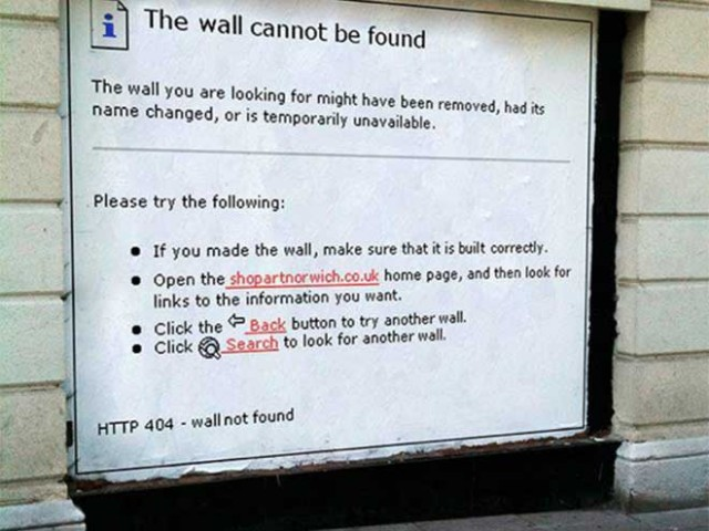 The Wall cannot be found