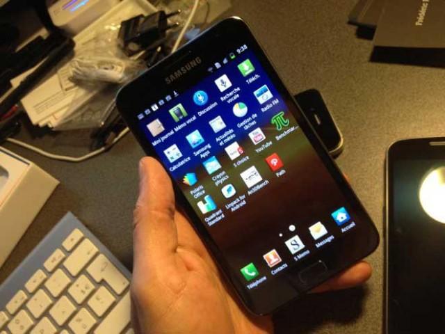 Samsung Galaxy Note : aperçu de Ice Cream Sandwich et de Premium Suite en vidéo
