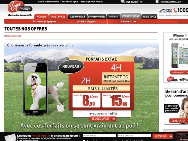 """Virgin Mobile : un forfait """"quadruple play"""" à moins de 30 €par mois"""