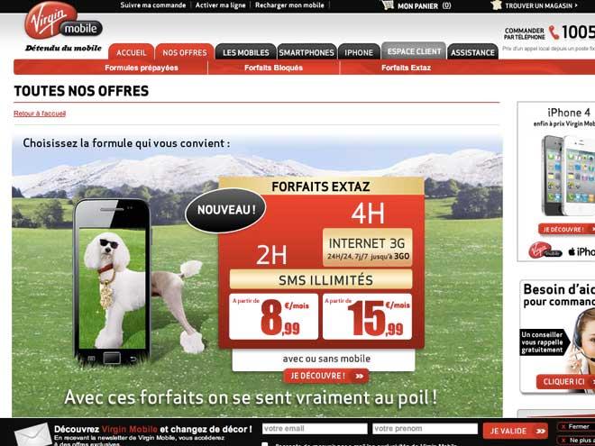 forfait virgin mobile offres sans engagement forfait. Black Bedroom Furniture Sets. Home Design Ideas