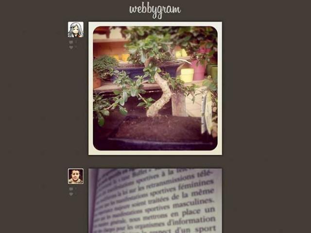 Instagram dans le navigateur avec Webbygram