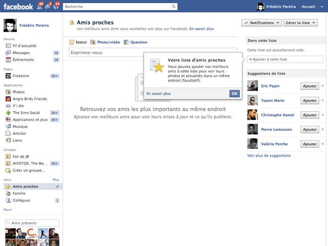 Facebook : bientôt une nouvelle manière de gérer ses amis
