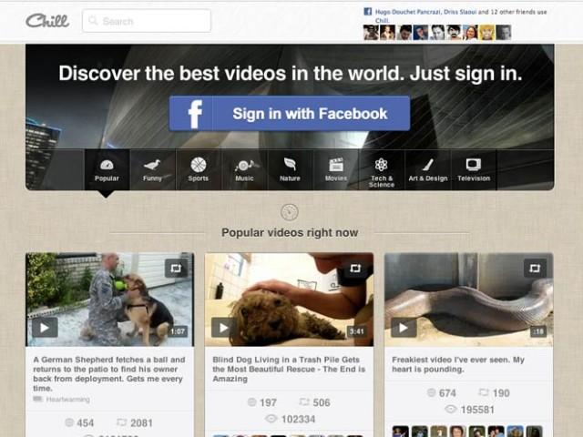 Chill, un Pinterest pour la vidéo