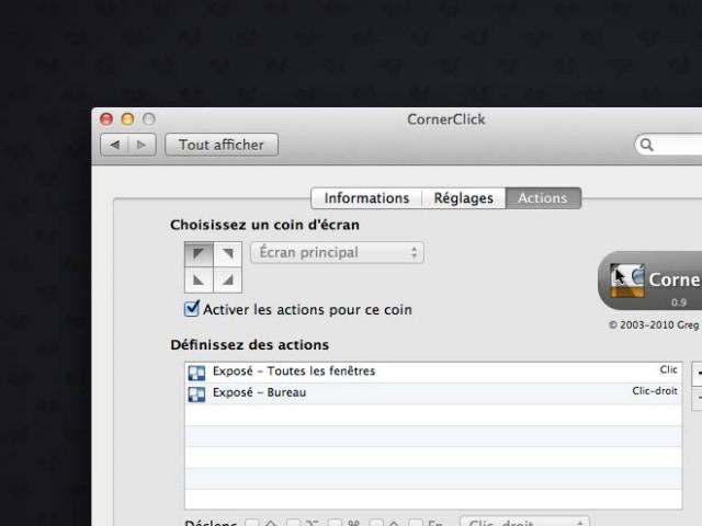 Mac OS : associer des actions aux coins de l'écran