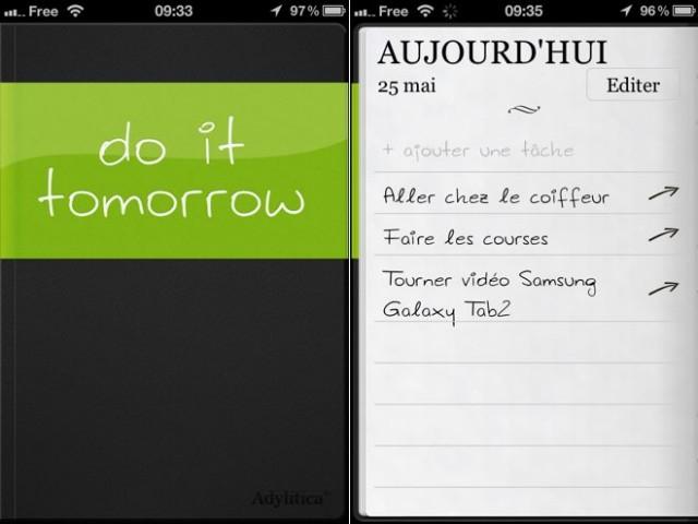 Do It Tomorrow, un gestionnaire de tâches simple et universel