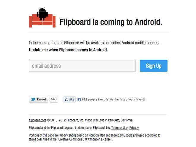 Flipboard Android : bientôt une bêta pour tous les terminaux