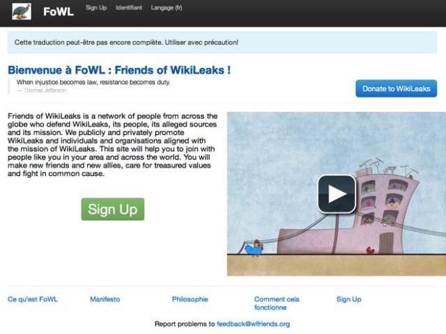 FoWL : Friends of WikiLeaks, le réseau social de WikiLeaks