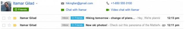 Gmail : de nouvelles fonctionnalités avec du Google+ dedans