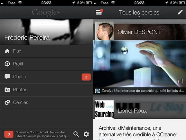 Google+ iOS : une nouvelle version et une nouvelle interface