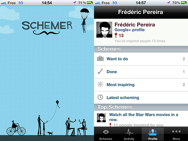 Google Schemer est disponible sur iPhone
