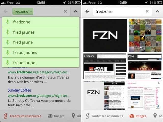 Google Search : une nouvelle version sur iOS